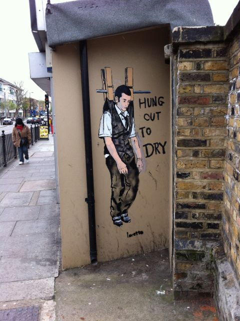 Hung out to dry #streetart #london #urbacolors