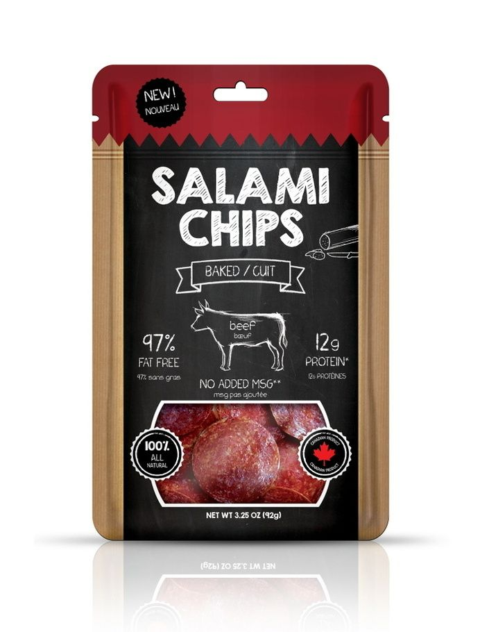Salami chips packaging by Katerina Karagianni at Coroflot.com in MEAT