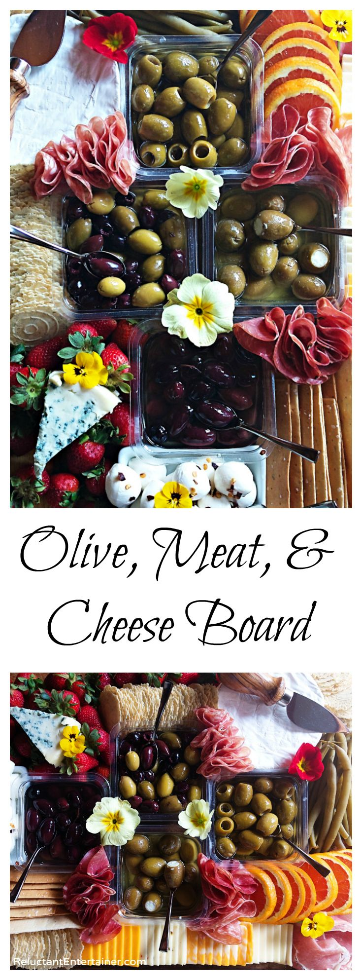 Olive, Meat, Cheese Board Recipe with DeLallo