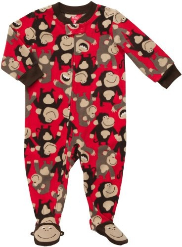 Carter S Boys Red Monkey Fleece Blanket Sleeper 171 Clothing