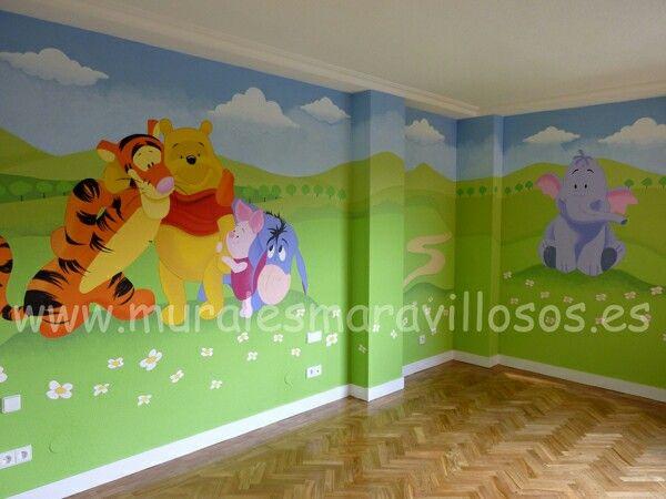 pintura infantil de cuartos y con murales sobre paredes lisas y en gotel