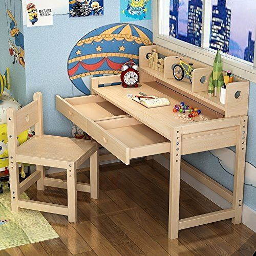 Wondrous Tribesigns Unfinished Kids Study Desk And Chair Set Creativecarmelina Interior Chair Design Creativecarmelinacom