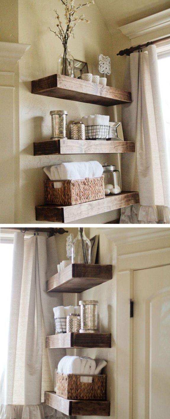 Easy Diy Floating Shelves Diy And Crafts Shelves And Floating Shelves