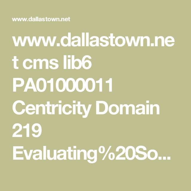 www.dallastown.net cms lib6 PA01000011 Centricity Domain 219 Evaluating%20Sources%20PP%20HMH.ppt