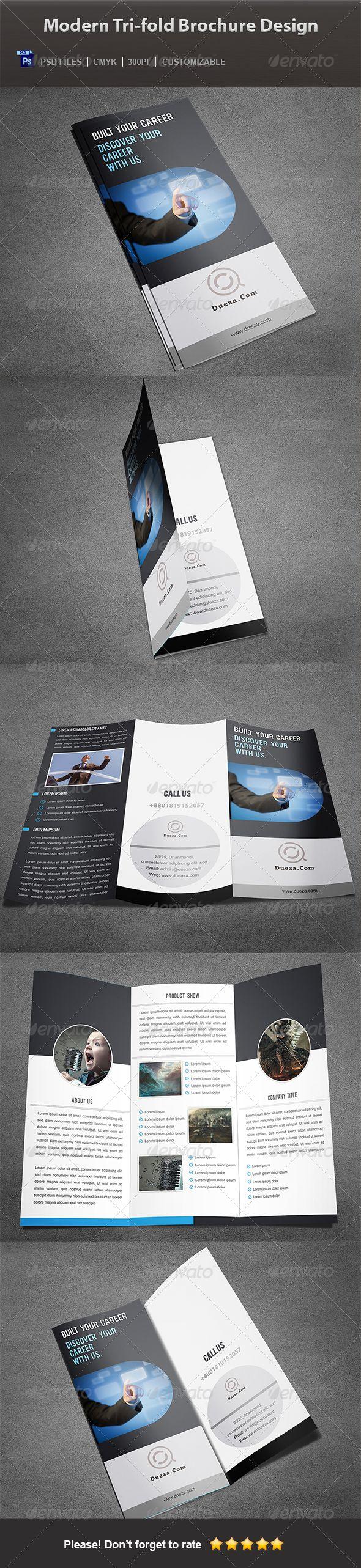 Creative Modern Corporate Brochure Design: Modern Tri-fold Brochure Design