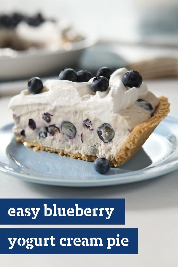 Blueberry Yogurt Cream Pie – Fresh blueberries and flavored yogurt ...