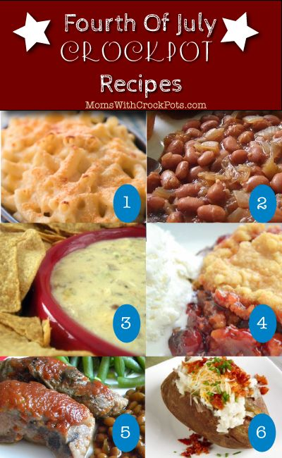 Don't heat the kitchen! Check out these Fourth of July Crock Pot Recipes!