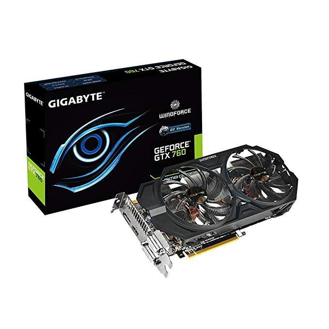 Gigabyte Gtx760 Gddr5 2gb 2xdvi Hdmi Dp Oc Graphics Card Gv N760wf2oc 2gd Review Graphic Card Gigabyte Hdmi