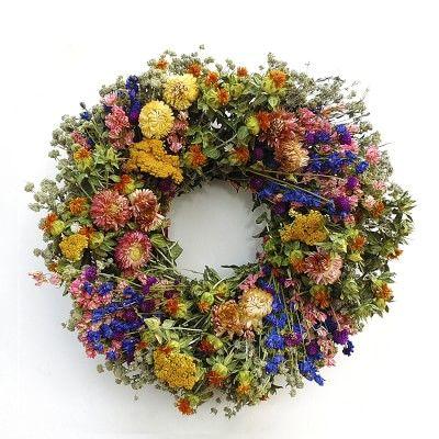 Spring Garden Wreath #williamssonoma