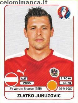UEFA EURO 2016™ Official Sticker Album: Fronte Figurina n. 642 Zlatko Junuzovic