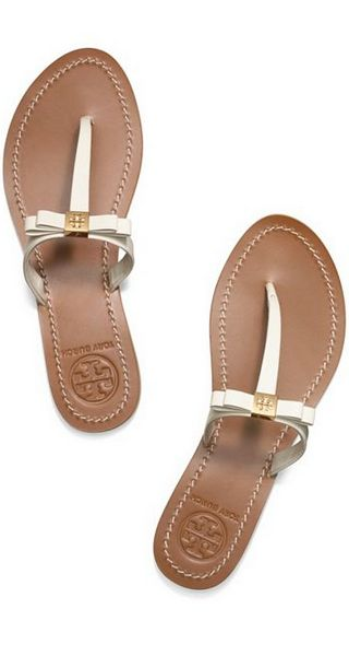 sweet bow sandals #toryburch