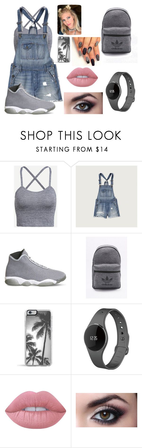 """""""Grey rage"""" by tkaigibson-1 on Polyvore featuring Abercrombie & Fitch, NIKE, adidas, Zero Gravity, MyKronoz and Lime Crime"""