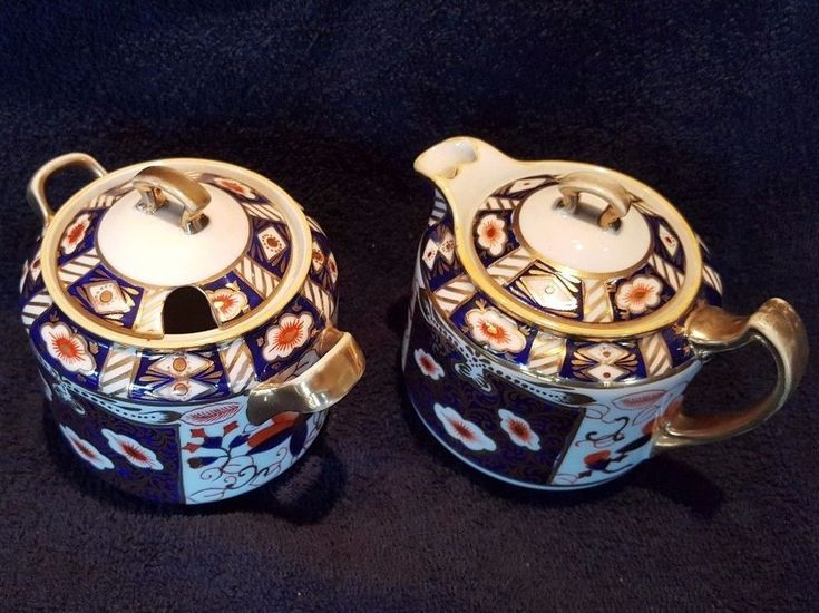"Royal Crown Derby English bone China ""New"" Imare sugar bowl and creamer #RoyalCrownDerbyEnglish"