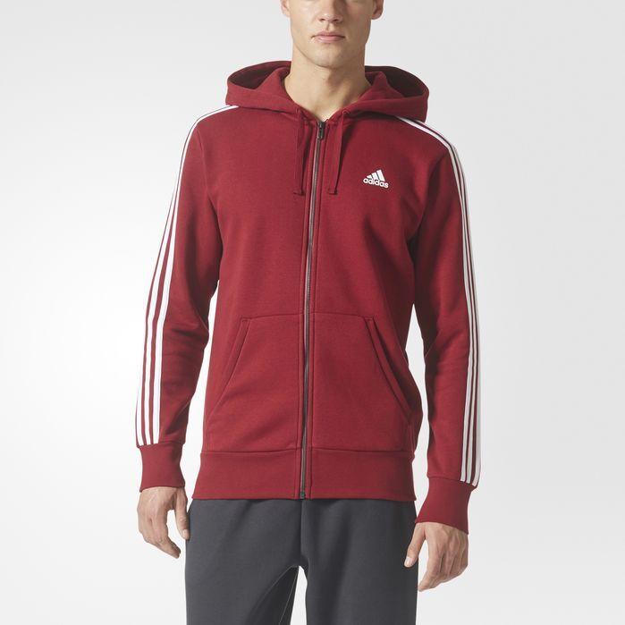 adidas Essentials 3-Stripes Fleece Hoodie - Mens Hoodies