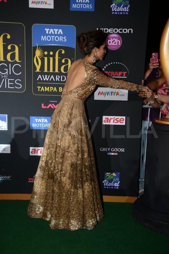 Deepika Padukone at the IIFA Magic of the Movies in a Sabyasachi creation.