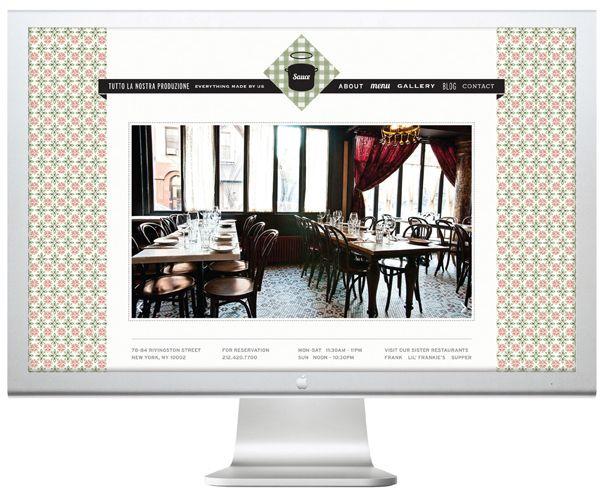 Sauce Restaurant by Meter Industries , via Behance