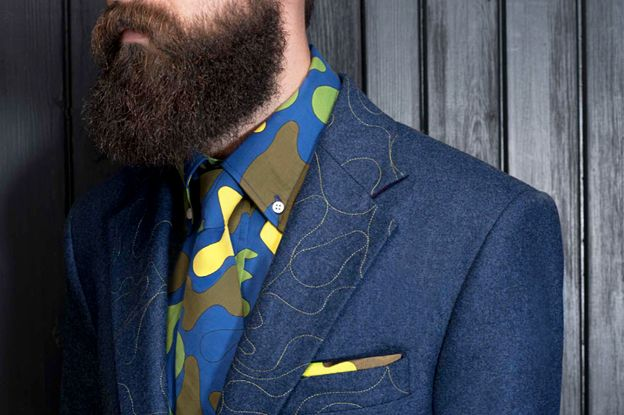 Gresham Blake Tailoring Mens Colourful Suit. Like the matching colourful patterned shirt & tie.