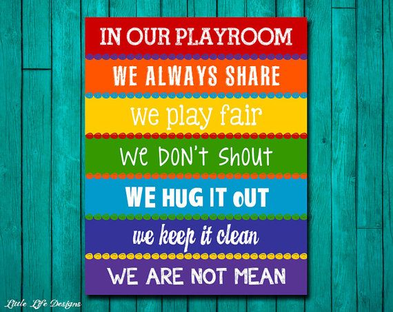 Please read entire description before purchase :) Spirited Fun Playroom Rules Sign. Cute, COLORFUL, Rules for the playroom. Great for a nursery, childs room, play room or toy room. Makes a great gift! OPTIONS: This high resolution instant download printable scales to print in the