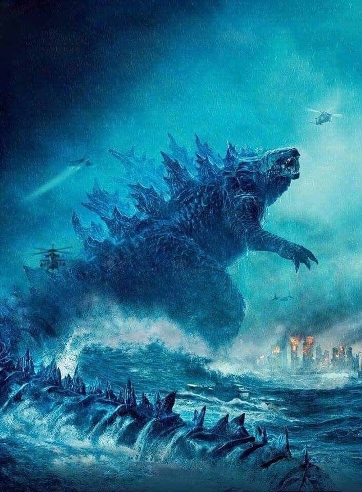 Godzilla King Of The Monsters 2019 Textless Godzilla Wallpaper Godzilla All Godzilla Monsters