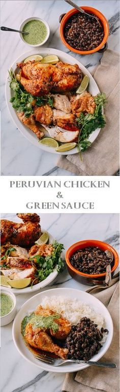 PERUVIAN CHICKEN & GREEN SAUCE RECIPE by the Woks of Life