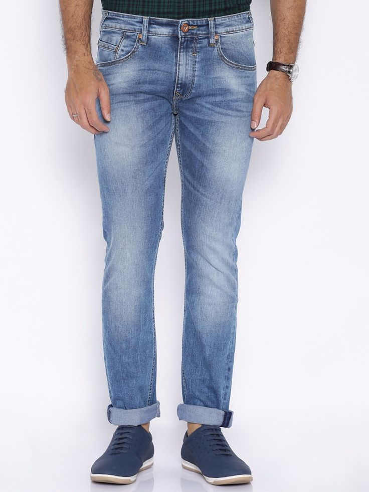 Pepe Jeans Denim Blue Casual Wear Vapour Fit Plain Jeans
