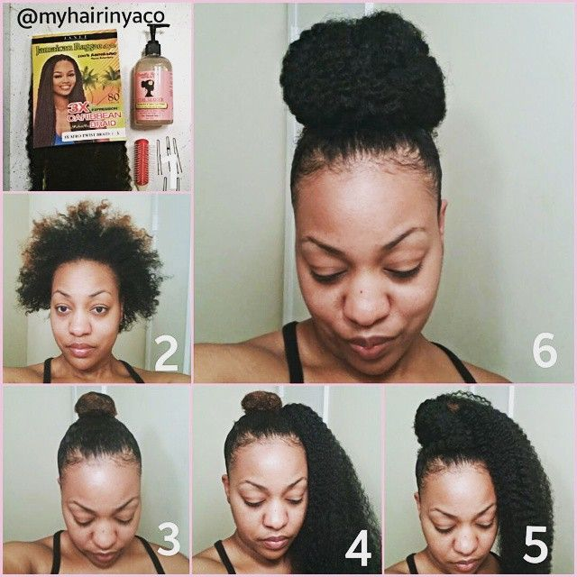 High Bun with Marley Hair www.youtube.com/inyaco  #camillerosenaturals #rizingbuns #naturalhairjourney