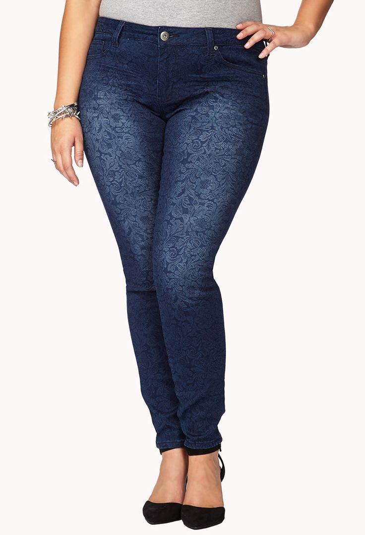 Floral Darling Skinny Jeans | FOREVER21 PLUS How do you rock #Printed #Denim
