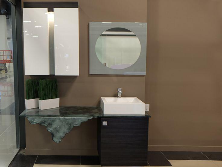 Custom Waterfall Vanity and Cabinetry  #decor #interior #interiordesign #homedesign #homestyle #homewares #interiorinspiration #cbdglass