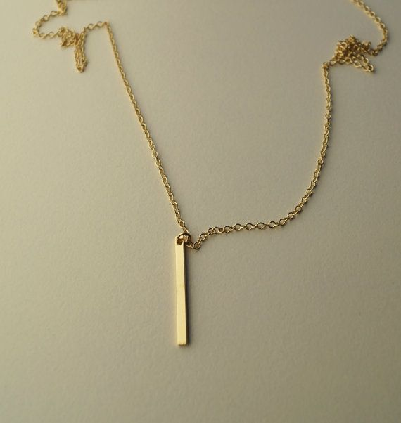 Sieh dir dieses Produkt an in meinem Etsy-Shop https://www.etsy.com/de/listing/476629747/minimalistischer-schmuck-kette-halskette