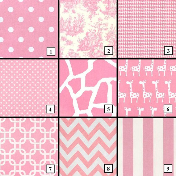 Baby Pink Curtains, Pink Nursery Curtains, giraffe curtains, chevron ...