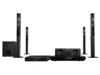 Home Theater Philips HTB5580X/78 com Blu-Ray 3D - 1000W 5.1 Canais Bluetooth Função Karaokê e HDMI