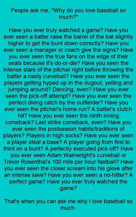 Now ask me why I love baseball.