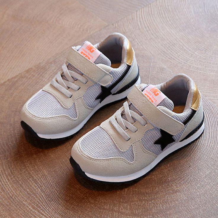 Neue jungen mädchen mesh turnschuhe kinder shoes breathable laufende shoes für kinder wohnungen sportschuhe sterne-mode lässig schuh große