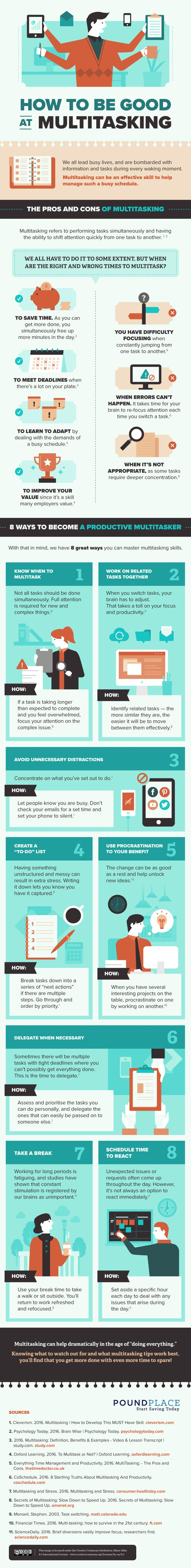 How To Streamline Your Multitasking At Work (infographic)