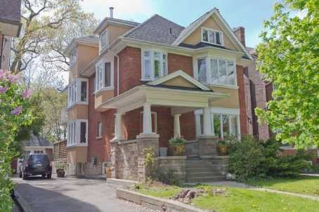 Great family house in High Park. Century edwardian with traditional exterior.  Interior completely rebuilt & is rare residential work by world renowned British architect Edward Jones.  Exceptional light & space with 3rd floor vaulted master suite with walk out to covered loggia.  Very large library/music room, main floor family room & powder room.  Full 1 bedroom basement nanny or granny space with seperate entrance private drive, 2 car tandem brick garage.