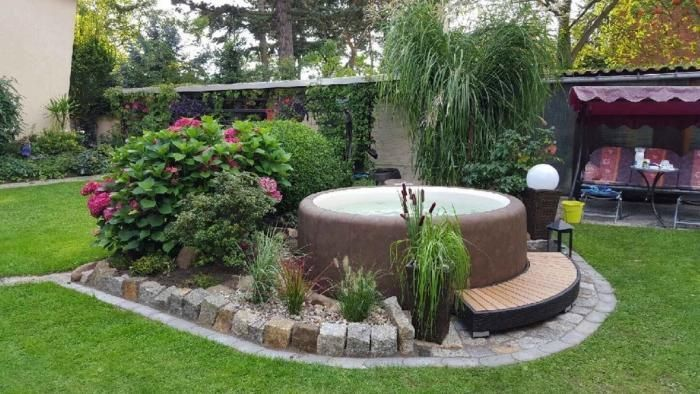 Softub Whirlpools Garten Gestaltung Ideen Hot Tub Garden Hot Tub Backyard Outdoor Tub