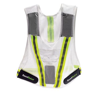 RoadNoise Vest: The RoadNoise vest was born out of a rule change at the Hood to Coast Relay in 2010. Banned from wearing headphones, a team of runners rigged up speakers in a reflective vest—a race requirement for overnight legs.
