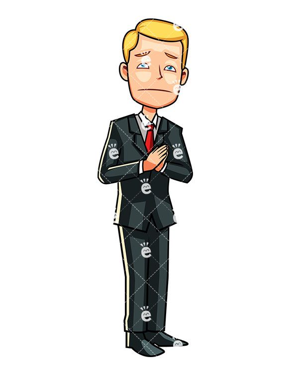 A Businessman With Hands Held By His Side In Prayer:  #accountant #accounting #appeal #appealing #banker #blond #blue #boss #business #businessowner #businessman #capitalist #career #cartoon #caucasian #CEO #character #clipart #corporate #corporation #director #dismal #downtrodden #drawing #employee #enterprise #entrepreneur #executive #financier #graphic #heartbroken #hoping #human...