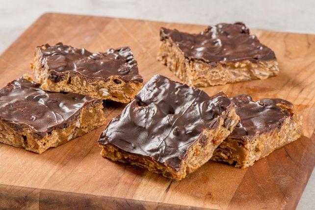 Barres au beurre d'arachide et au chocolat