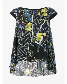Cap Sleeve Top with Step Hem.This black and multi-coloured Erdem cap sleeve top is yet more proof (even more proof than our wardrobe already suggests) of the eponymous designer's penchant for gorgeous floral prints. Crafted in the UK, the piece has been cut with cap sleeves and with a step hem. Enhanced with an all-over floral print, we are styling our Erdem top with black cigarette trousers and heeled sandals for our next dinner date with friends..Look # 24- Sleeve Top-Sandals-Printed…