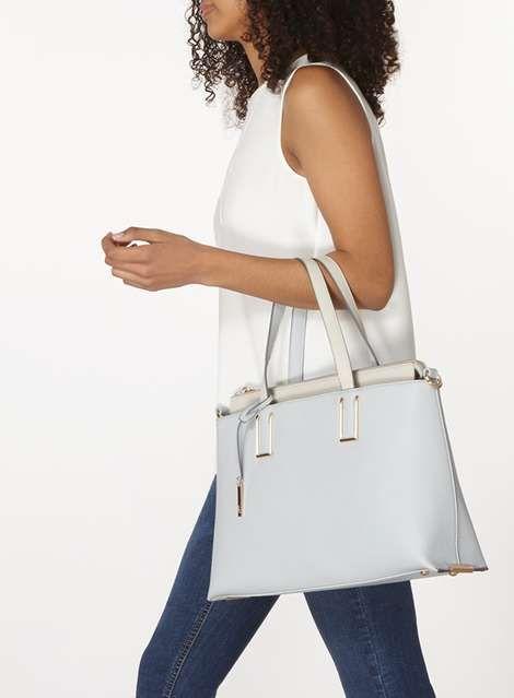 *LYDC Blue Work Tote Bag - Accessories- Dorothy Perkins