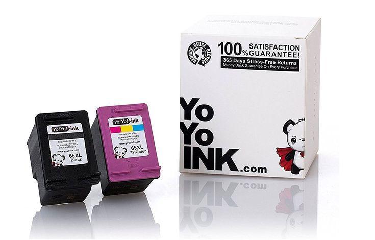 HP 65 65XL Remanufactured Combo Black & Color Printer Ink ...