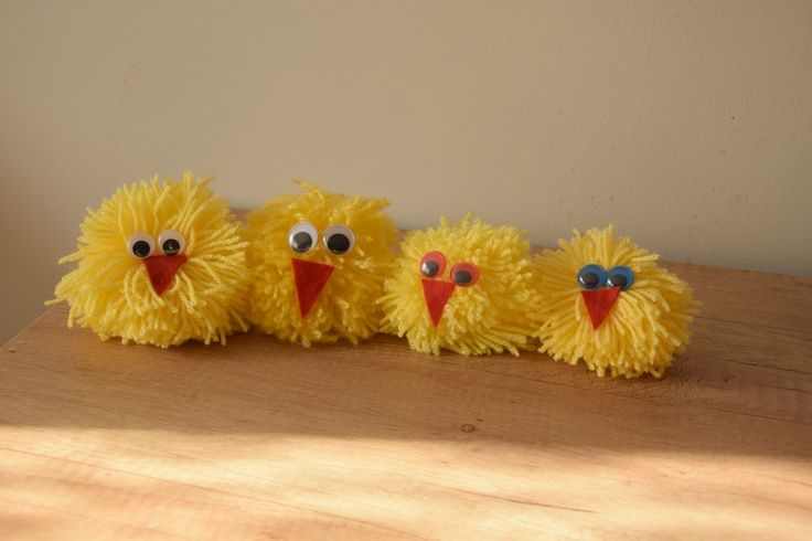 Easter chickens DIY