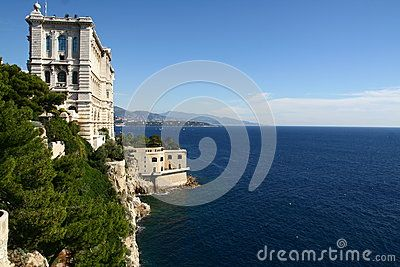 Oceanographic Museum in Monaco by the sea