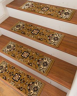 Best Soleil Carpet Stair Treads W Peel Stick Strips Set 640 x 480
