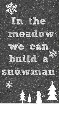 Large Chalkboard like Christmas Carol Song HolidayTypography Snowman Sign