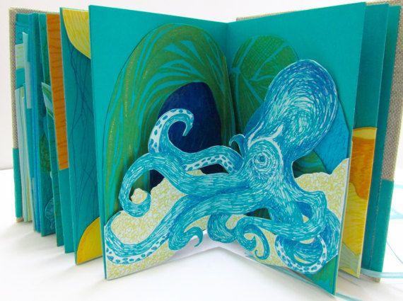 Sous le livre de la mer mer et rivage Pop-Up par DidderbugDesigns