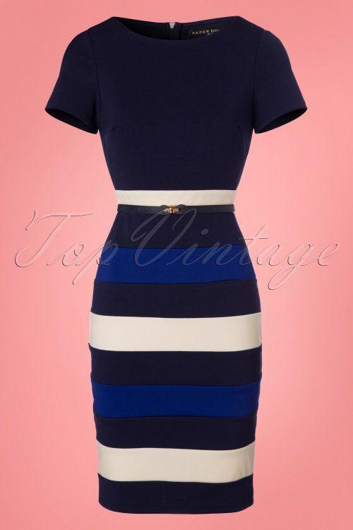 ab7b100cdfd Paper Dolls Colorblock Striped Pencil Dress 100 39 23920 20180306 0001W