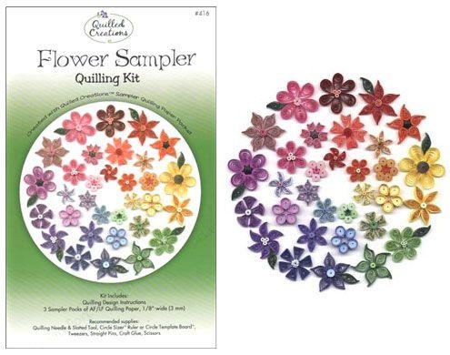 Quilling Kit : #416 Flower Sampler