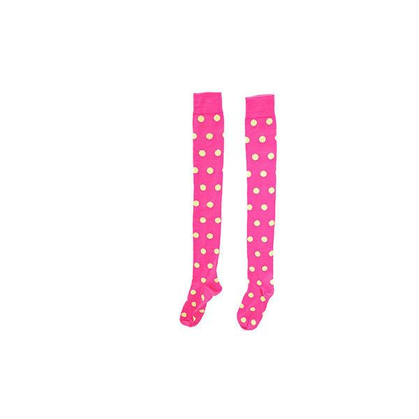 Neon Pink Spotty Overknee Socks (€7,09) ❤ liked on Polyvore featuring intimates, hosiery, socks, over the knee hosiery, polka dot socks, neon pink socks, above knee socks and polka dot hosiery